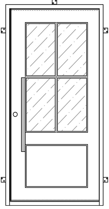 Classic Iron Pivot Door